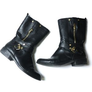 Marc Fisher | Gold Hardware Calf Boot 8.5